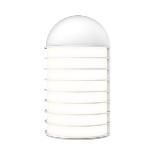 Lighthouse Textured White Big LED Sconce