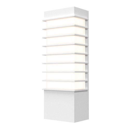 Tawa Textured White 13-Inch Slim LED Sconce