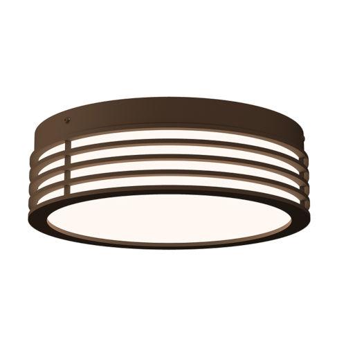 Marue Textured Bronze 11-Inch Round LED Flush Mount