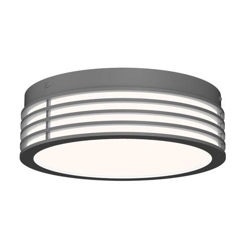 Marue Textured Gray 11-Inch Round LED Flush Mount