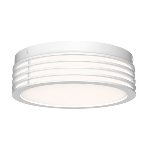Marue Textured White 11-Inch Round LED Flush Mount