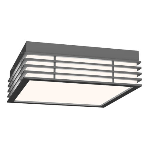 Marue Textured Gray 11-Inch Square LED Flush Mount