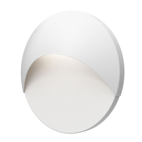 Ovos Textured White Round LED Sconce