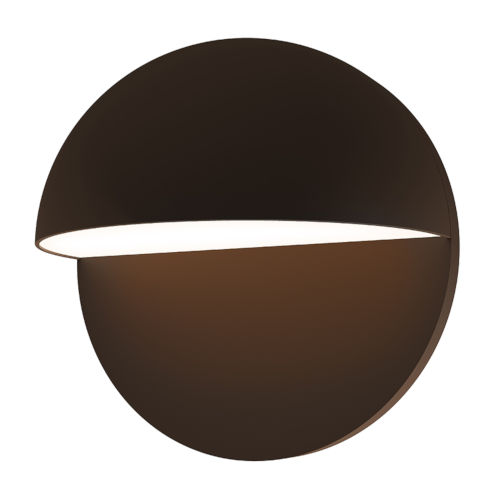 Mezza Cupola Textured Bronze 8-Inch LED Sconce