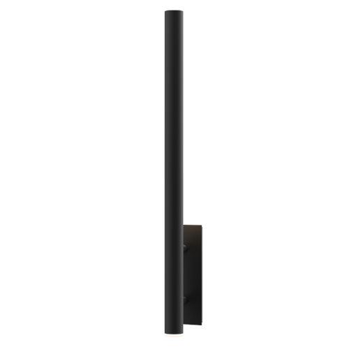 Flue Textured Black 40-Inch LED Sconce