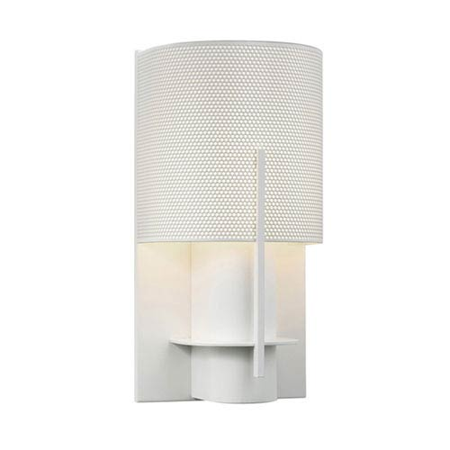 Oberon Satin White One-Light Wall Sconce