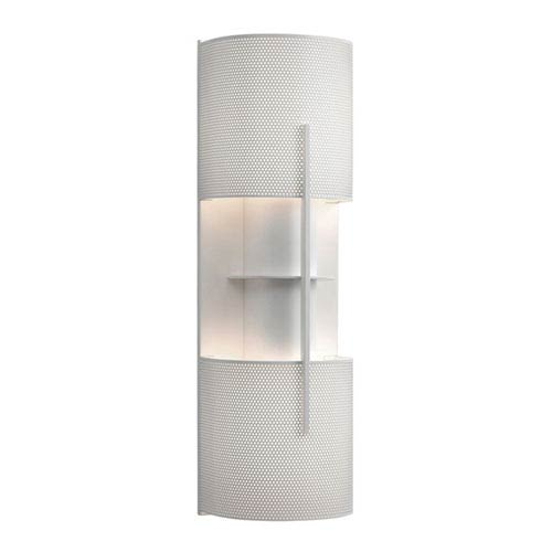 Oberon Satin White Two-Light Wall Sconce