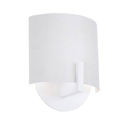 SONNEMAN Scudo Satin White One-Light Wall Sconce