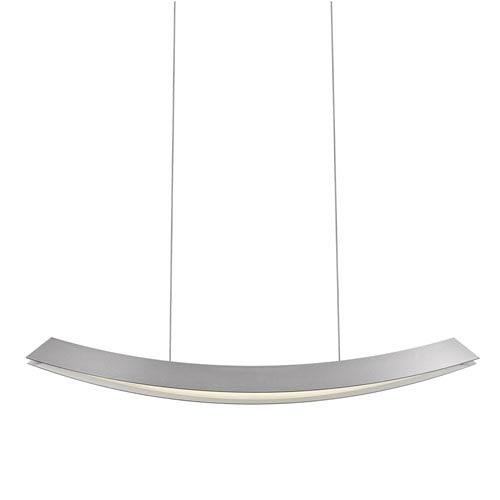 Kabu Bright Satin Aluminum 29-Inch LED Linear Pendant