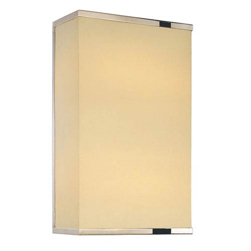Rettangolo Corto Satin Nickel One-Light Wall Sconce