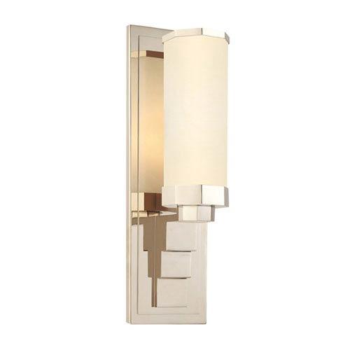 SONNEMAN Scala Polished Nickel One-Light Wall Sconce