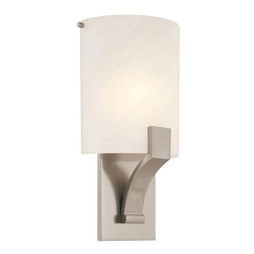 SONNEMAN Greco 8-Inch Satin Nickel Fluorescent Sconce