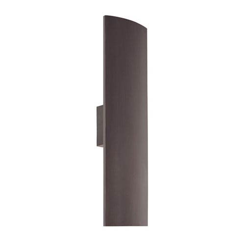 SONNEMAN Pannelo Rubbed Bronze Two-Light Wall Sconce