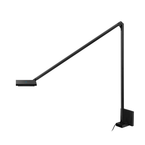 Quattro Black LED Wall Sconce with White Acrylic Panel