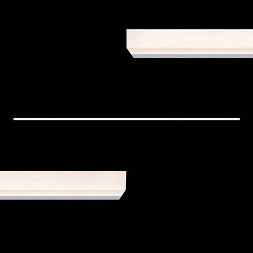 Stiletto Lungo Bright Satin Aluminum LED Wall Bar