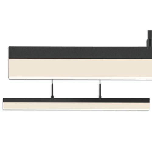SONNEMAN Stiletto Satin Black LED 24.25-Inch Pendant