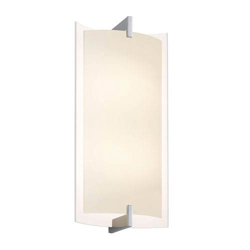 Double Arc Polished Chrome LED 11-Inch Tall Wall Sconce