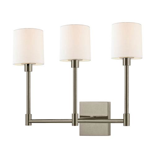 SONNEMAN Embassy Satin Nickel LED 20-Inch Three Light Wall Sconce
