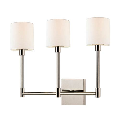 Embassy Polished Nickel LED 20-Inch Three Light Wall Sconce