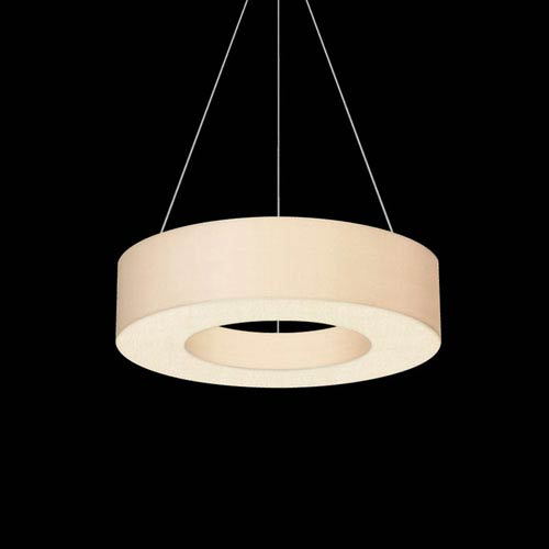 Ring Shade Satin White LED Pendant