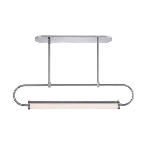 Bauhaus Revisited Satin Chrome LED Linear Pendant