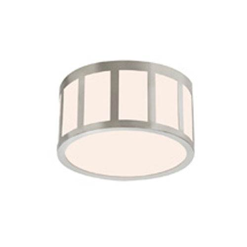 SONNEMAN Capital Satin Nickel LED 9-Inch Round Flush Mount