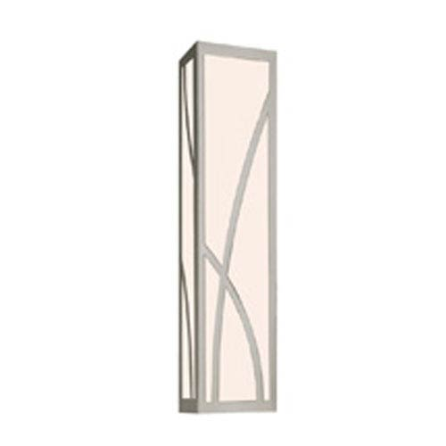 Haiku Satin Nickel LED 23-Inch Bath Fixture Strip with White Glass