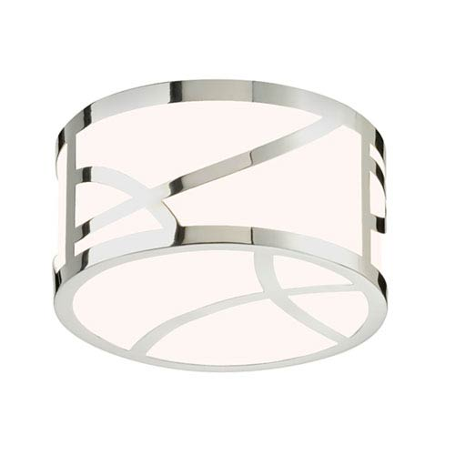 SONNEMAN Haiku Polished Nickel LED 4.75-Inch Round Flush Mount