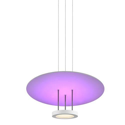 Chromaglo Spectrum LED 22-Inch Satin White Round Reflector Pendant