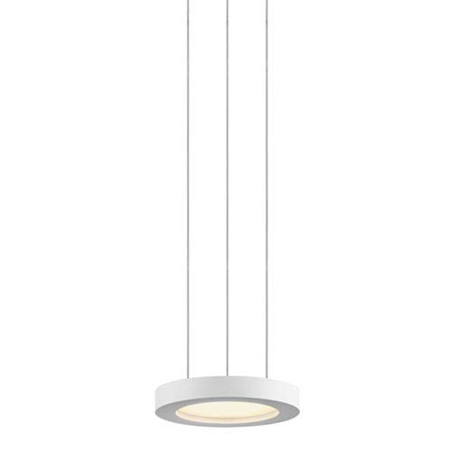 Chromaglo Spectrum LED 7-Inch Satin White Round Pendant