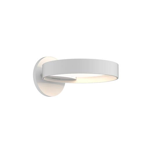Light Guide Ring Satin White LED Wall Sconce with Satin White Interior Shade