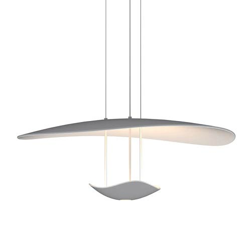 Infinity Reflections Dove Grey Two-Light LED Pendant