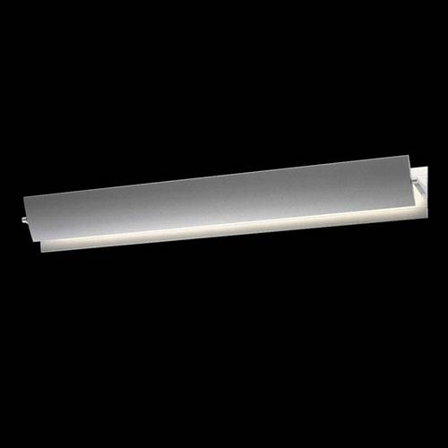 Aileron Bright Satin Aluminum LED Sconce