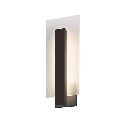 Midtown LED Textured Bronze 1-Light Outdoor Wall Sconce 16-Inch
