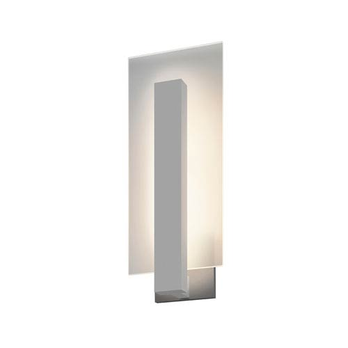 Midtown LED Textured Gray 1-Light Outdoor Wall Sconce 16-Inch