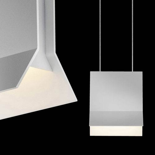 Lambda Bright Satin Aluminum LED Pendant