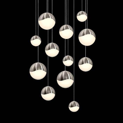 Sonneman Gs Satin Nickel 12 Light Led Pendant