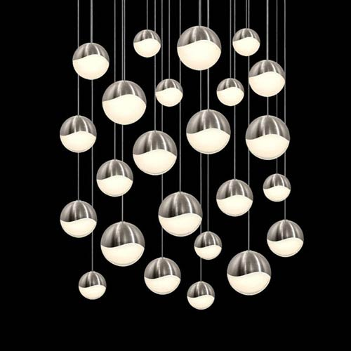 SONNEMAN Grapes Satin Nickel 24-Light LED Pendant