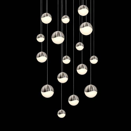 SONNEMAN Grapes Satin Nickel 16-Light LED Pendant