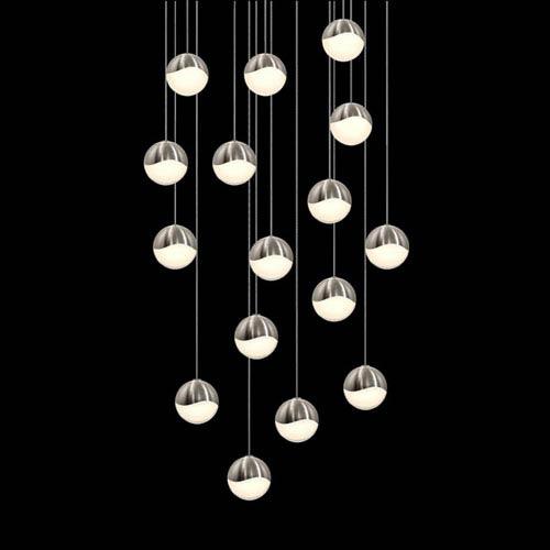 SONNEMAN Grapes Satin Nickel 16-Light LED Pendant