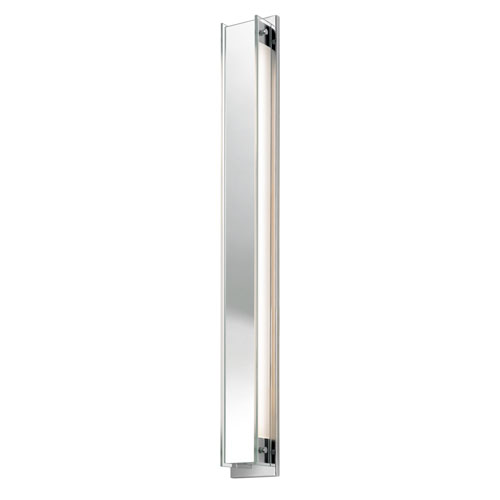 SONNEMAN Accanto 40 Inch Two-Light - Polished Chrome with Clear Glass - Wall Sconce