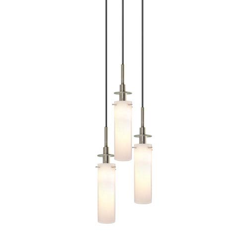 SONNEMAN Candle Satin Nickel Three-Light Mini Pendant