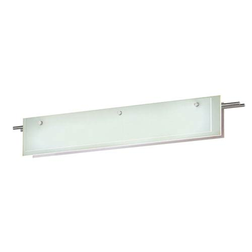 Suspended Glass Slim Satin Nickel LED 36-Inch Bath Fixture Strip