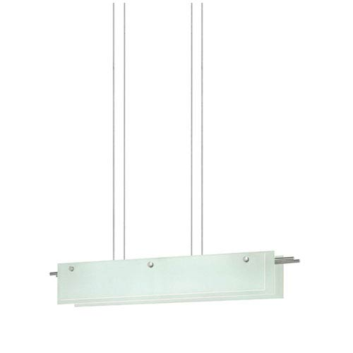 SONNEMAN Suspended Glass Slim Satin Nickel LED 36-Inch Pendant