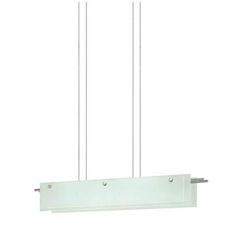 SONNEMAN Suspended Glass Slim Satin Nickel LED 36-Inch Pendant