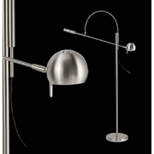 SONNEMAN Orbiter One-Light - Satin Nickel with Satin Nickel Metal Shade - Floor Lamp