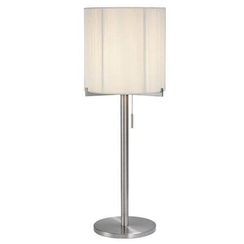 Boxus Round Satin Nickel One-Light Table Lamp
