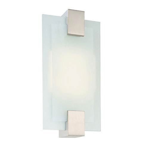 SONNEMAN Dakota Satin Nickel Two-Light Wall Sconce