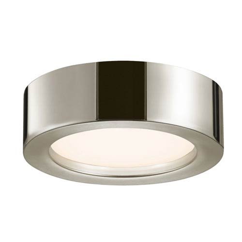 SONNEMAN Puck Slim Polished Nickel LED 8-Inch Flush Mount