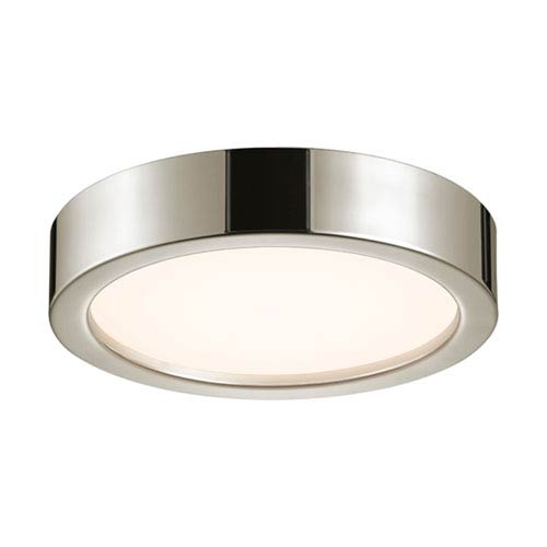 SONNEMAN Puck Slim Polished Nickel LED 12-Inch Flush Mount